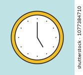 clock filled outline icon | Shutterstock .eps vector #1077384710