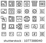 thin lines web content icons... | Shutterstock .eps vector #1077388040