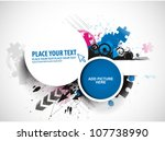 abstract colorful circle banner ... | Shutterstock .eps vector #107738990