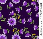 lovely seamless floral pattern...   Shutterstock .eps vector #1077397478