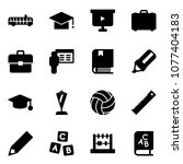 solid vector icon set   airport ... | Shutterstock .eps vector #1077404183