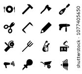 solid vector icon set   plate...   Shutterstock .eps vector #1077405650