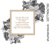 beautiful grey floral frame.... | Shutterstock .eps vector #1077406730