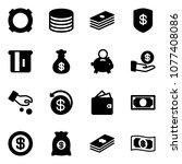solid vector icon set  ...   Shutterstock .eps vector #1077408086