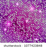 shining abstract pink mosaic... | Shutterstock .eps vector #1077423848