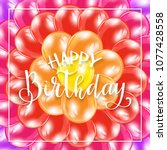 text happy birthday on... | Shutterstock .eps vector #1077428558
