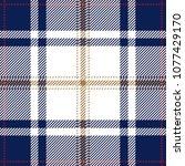 blue and white tartan plaid... | Shutterstock .eps vector #1077429170