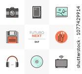 modern flat icons set of... | Shutterstock .eps vector #1077429914