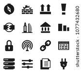 flat vector icon set   schedule ... | Shutterstock .eps vector #1077432680