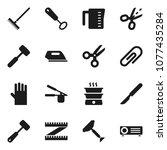 flat vector icon set   scraper... | Shutterstock .eps vector #1077435284