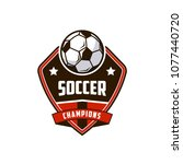 football soccer badges logo... | Shutterstock .eps vector #1077440720