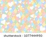 heart and argyle diamond... | Shutterstock .eps vector #1077444950