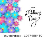 mother's day banner template... | Shutterstock .eps vector #1077455450