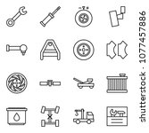 flat vector icon set   wrench...   Shutterstock .eps vector #1077457886