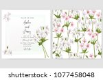 save the date card  wedding... | Shutterstock .eps vector #1077458048