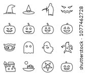flat vector icon set   witch... | Shutterstock .eps vector #1077462728
