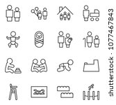 flat vector icon set   man and... | Shutterstock .eps vector #1077467843