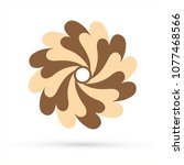 chocolate  fan spin   colorful... | Shutterstock .eps vector #1077468566