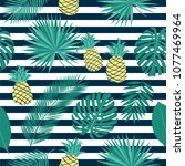 seamless summer pattern with... | Shutterstock .eps vector #1077469964