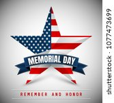 memorial day with star in...   Shutterstock .eps vector #1077473699