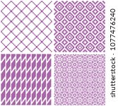 set of 4 seamless geometric... | Shutterstock .eps vector #1077476240