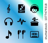 vector icon set about music... | Shutterstock .eps vector #1077479318