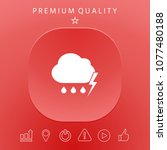 cloud thunderstorm lightning... | Shutterstock .eps vector #1077480188