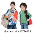 couple of children students a... | Shutterstock . vector #10774885