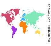 world map vector | Shutterstock .eps vector #1077494303