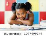 close up portrait of little... | Shutterstock . vector #1077499349
