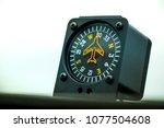 macro shot of compass. aircraft ... | Shutterstock . vector #1077504608