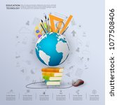 ideas concept for education... | Shutterstock .eps vector #1077508406
