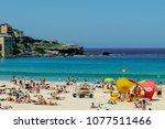 bondi beach  sydney  australia  ... | Shutterstock . vector #1077511466