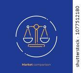 business comparison line art... | Shutterstock .eps vector #1077512180