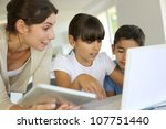 education and new technologies... | Shutterstock . vector #107751440