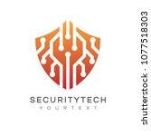 security technology logo | Shutterstock .eps vector #1077518303