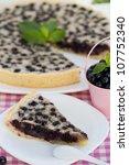 blueberry and almond tarte. | Shutterstock . vector #107752340