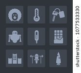 premium set of fill icons. such ... | Shutterstock .eps vector #1077533330