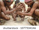 makgadikgadi salt pans ... | Shutterstock . vector #1077534146