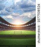 stadium imaginary 3d rendering | Shutterstock . vector #1077538526