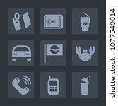 premium set of fill icons. such ... | Shutterstock .eps vector #1077540014