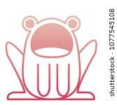 cute frog costume baby halloween | Shutterstock .eps vector #1077545108