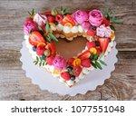 Beautiful Homemade Wedding Cak...