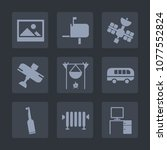 premium set of fill icons. such ... | Shutterstock .eps vector #1077552824