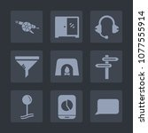 premium set of fill icons. such ... | Shutterstock .eps vector #1077555914