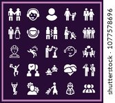 set of 25 people filled icons...   Shutterstock .eps vector #1077578696