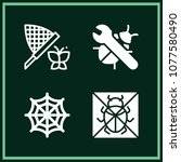set of 4 insect filled icons... | Shutterstock .eps vector #1077580490