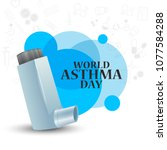 illustration of world asthma... | Shutterstock .eps vector #1077584288