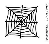 spiderweb icon logo... | Shutterstock .eps vector #1077584954