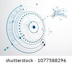 mechanical scheme  vector... | Shutterstock .eps vector #1077588296